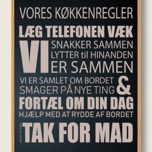 Køkken plakat